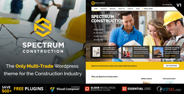 Spectrum - Construction Multi-Trade WordPress Theme - Business Corporate