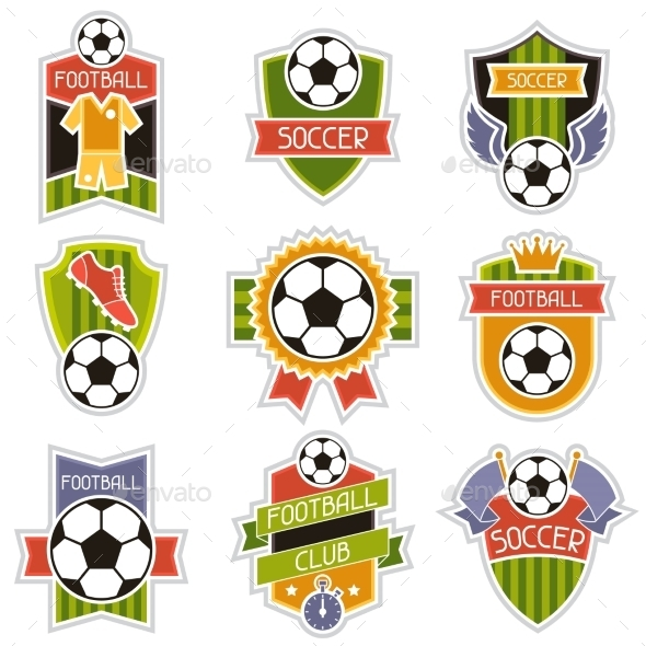 GraphicRiver Set of Soccer Badges 10782887