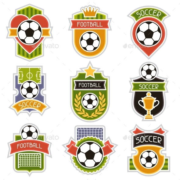 GraphicRiver Set of Soccer Badges 10782889