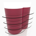 Red curve glass shelves - PhotoDune Item for Sale