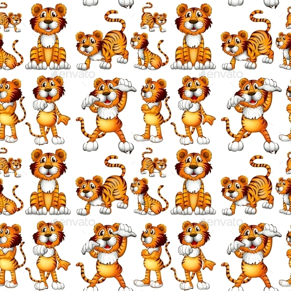 GraphicRiver Seamless Tiger 10783010