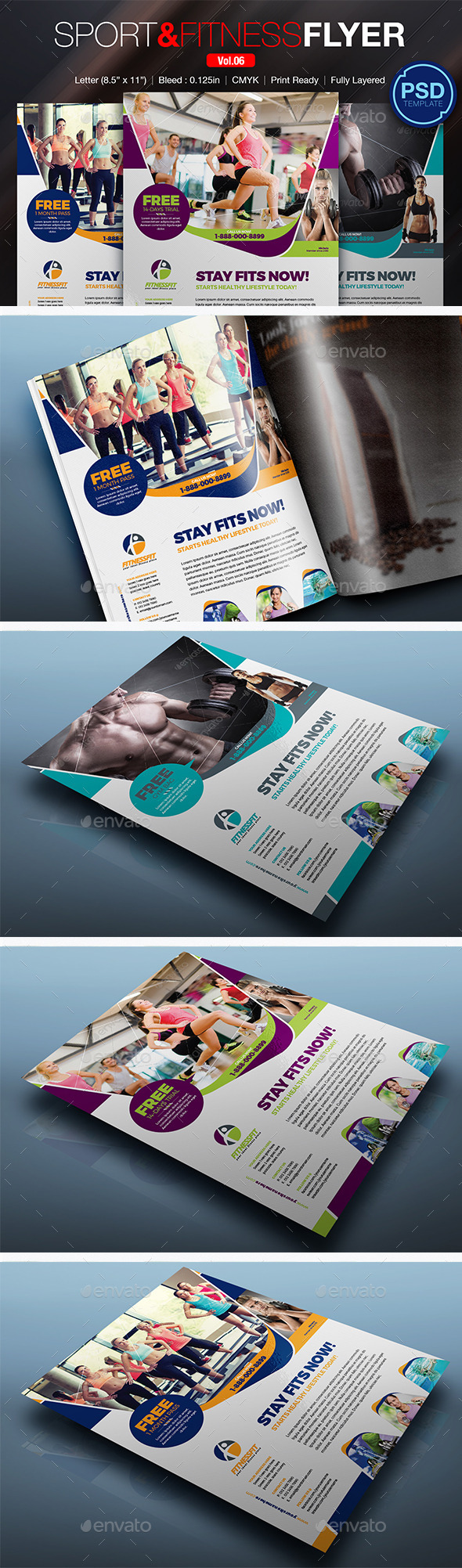 GraphicRiver Sport & Fitness Flyer Vol.06 10783012