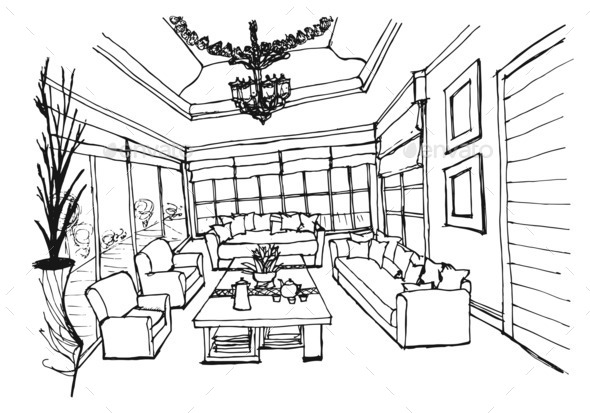 Stunning Drawing Living Room Pictures Bathroom Bedroom Kitchen