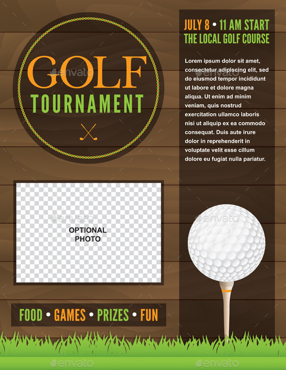 GraphicRiver Vector Golf Tournament Flyer Illustration 10783199