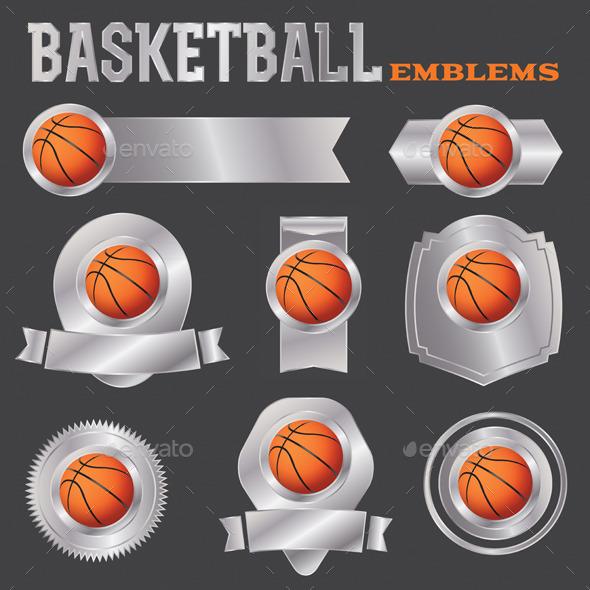 GraphicRiver Vector Basketball Emblems Illustration 10783203
