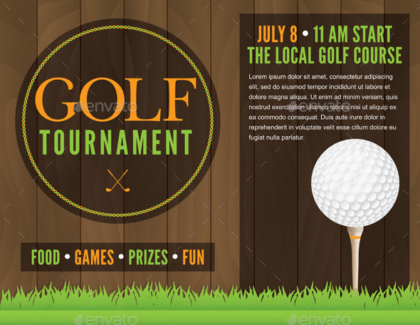 GraphicRiver Golf Tournament Flyer Illustration 10783205