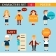 Business Male and Female Characters with Billboard - GraphicRiver Item for Sale