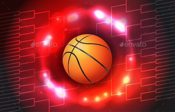 GraphicRiver Basketball Tournament Bracket Illustration 10783211