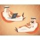 Arab Businessman Chat Laptop Mobile Phone - GraphicRiver Item for Sale