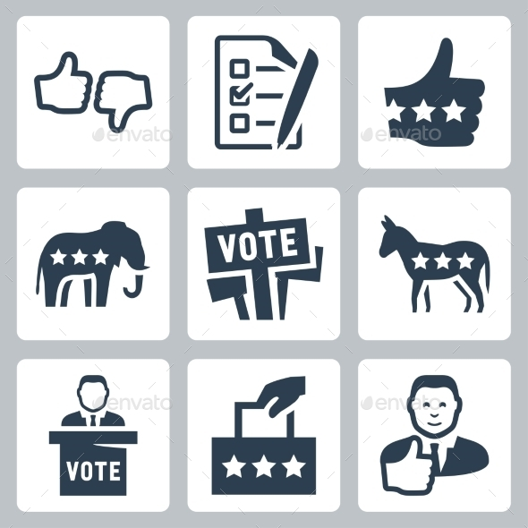 GraphicRiver Vector Voting and Politics Icons Set 10783233
