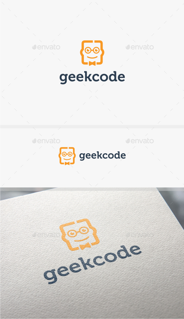 GraphicRiver Geek Code Logo Template 10783251
