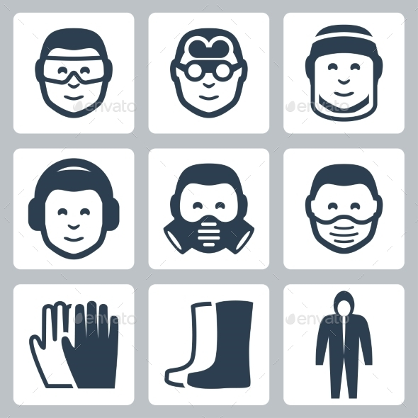 GraphicRiver Vector Job Safety Icons Set 10783406