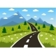 Spring or Summer Road to the Mountain - GraphicRiver Item for Sale