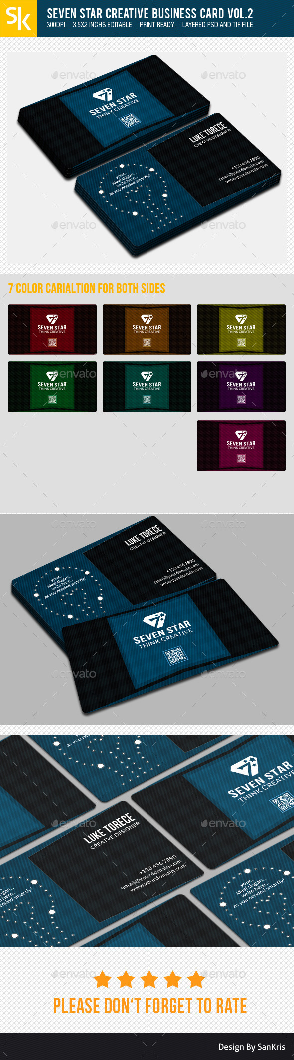 GraphicRiver Seven Star Creative Business Card Vol.2 10783538