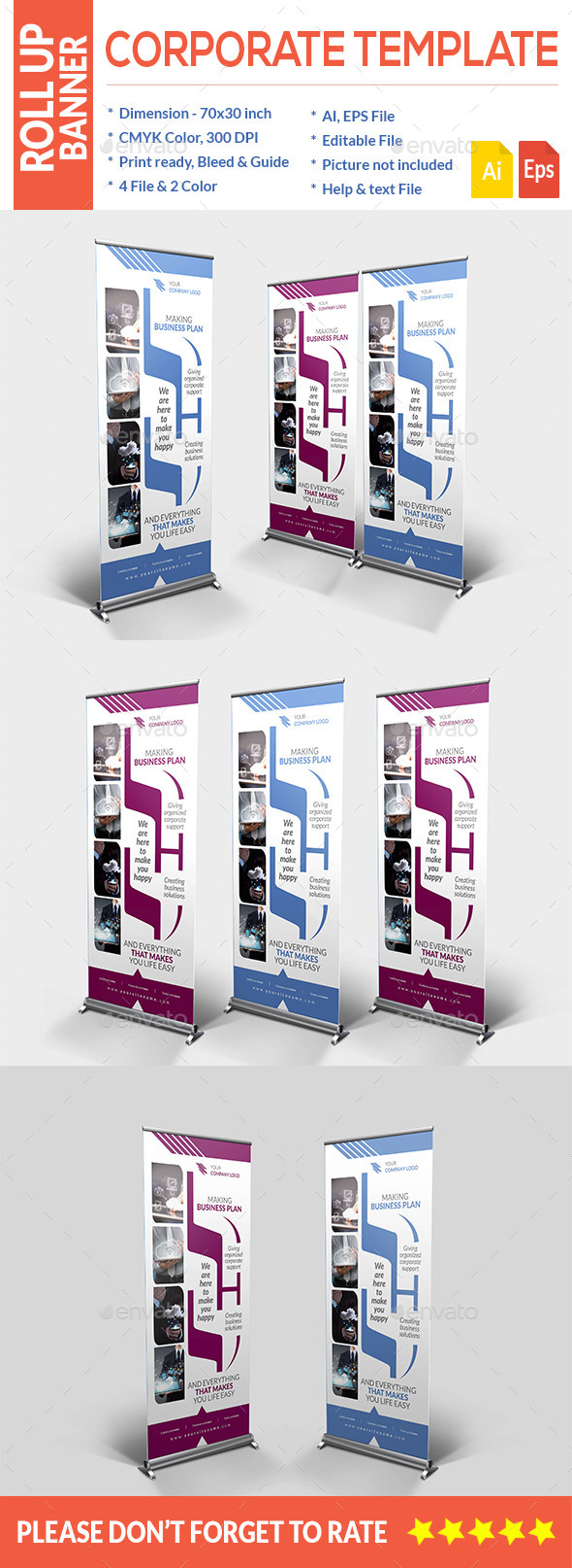GraphicRiver Corporate Roll-up Banner 10666243