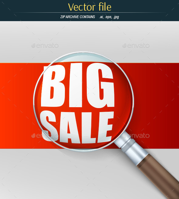 GraphicRiver Magnifier and the Inscription Big Sale 10783554