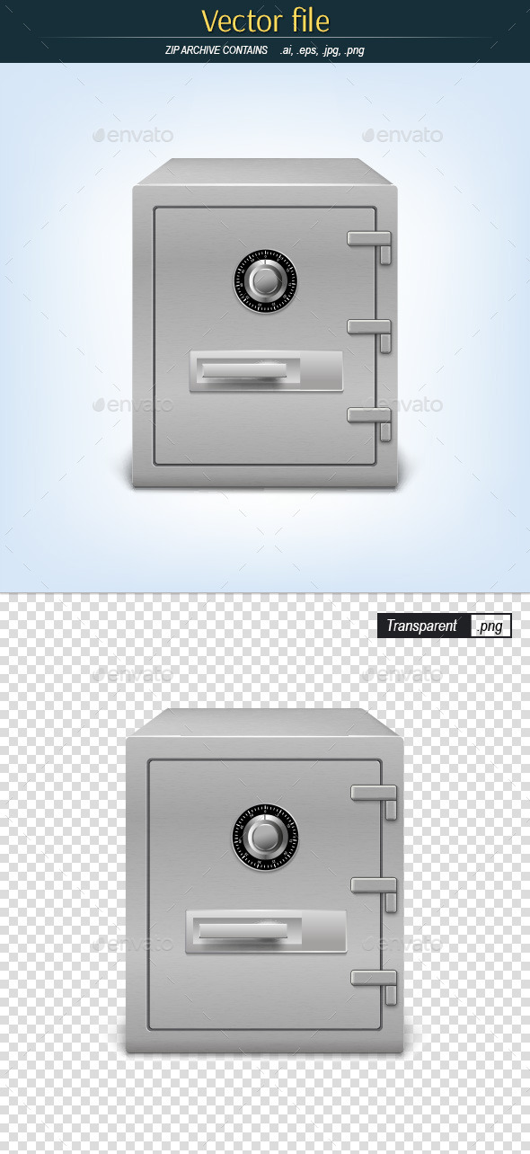 GraphicRiver Safety Deposit Box with Numbered Lock 10783570