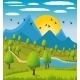 Mountain Landscape  - GraphicRiver Item for Sale