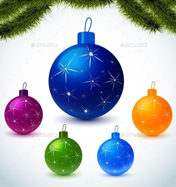 GraphicRiver Colorful Christmas Balls 10783587