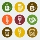 Vector Drinks Color Icons Set - GraphicRiver Item for Sale
