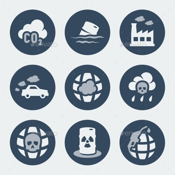 GraphicRiver Vector Pollution Icons Set 10783761