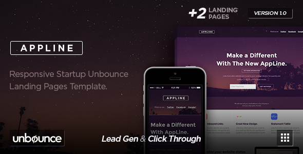ThemeForest AppLine Startup Unbounce Template 10783852