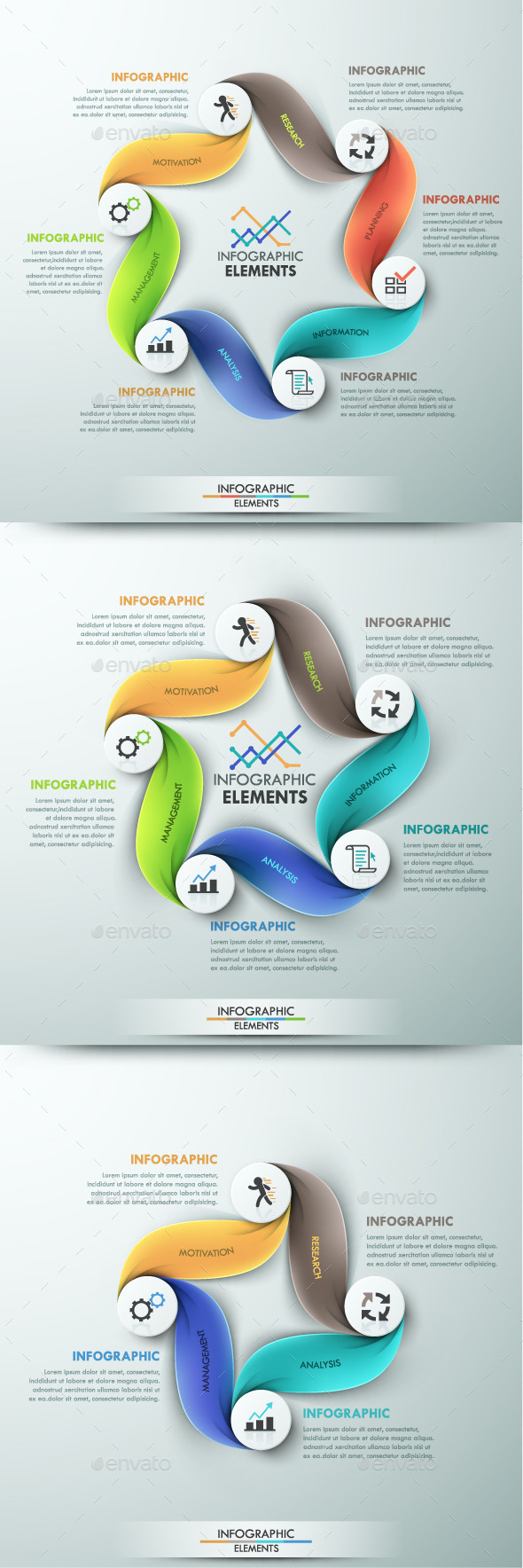 GraphicRiver Modern Infographic Cycle Template 3 Items 10783938