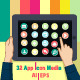 32 App Icons Media - GraphicRiver Item for Sale