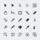 Vector Graphic Editor Mini Icons Set - GraphicRiver Item for Sale