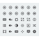 Vector Video Player Mini Icons Set - GraphicRiver Item for Sale