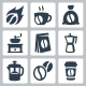 Vector Isolated Coffee Icons Set - GraphicRiver Item for Sale