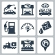Vector Gas Station Icons Set - GraphicRiver Item for Sale