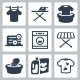 Vector Laundry Icons Set - GraphicRiver Item for Sale