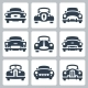 Vector Old Cars Icons Set - Front View - GraphicRiver Item for Sale