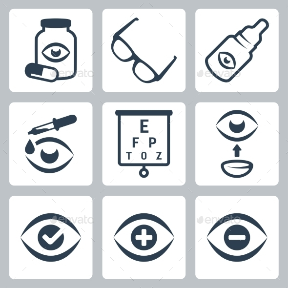 GraphicRiver Vector Optometry Icons Set 10784395
