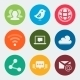 Vector Colorful Web and Social Icons Set - GraphicRiver Item for Sale
