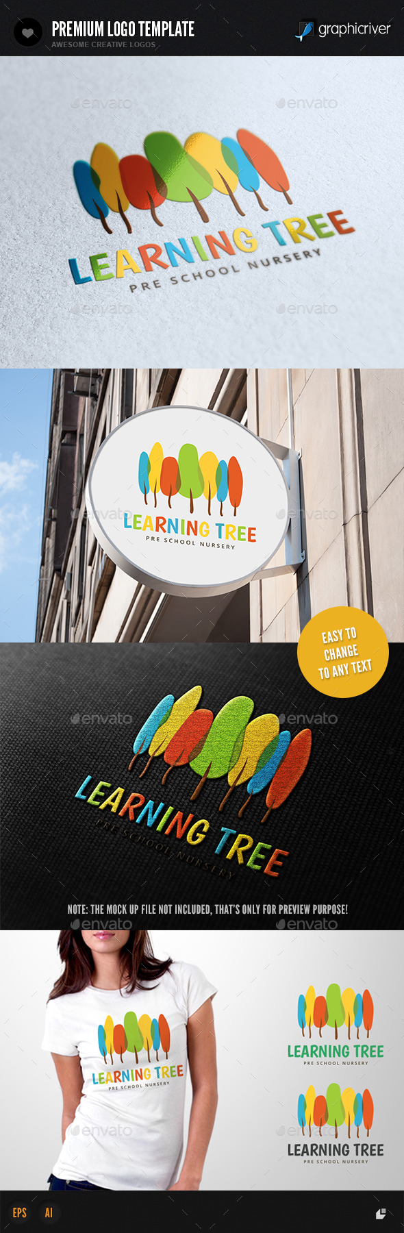 GraphicRiver Learning Tree Pre School Nursery 10784469