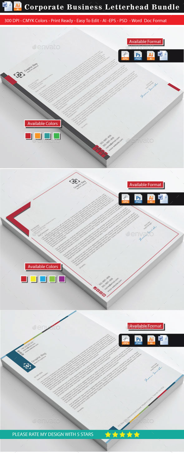 GraphicRiver Corporate Business Letterhead Bundle2 10784825