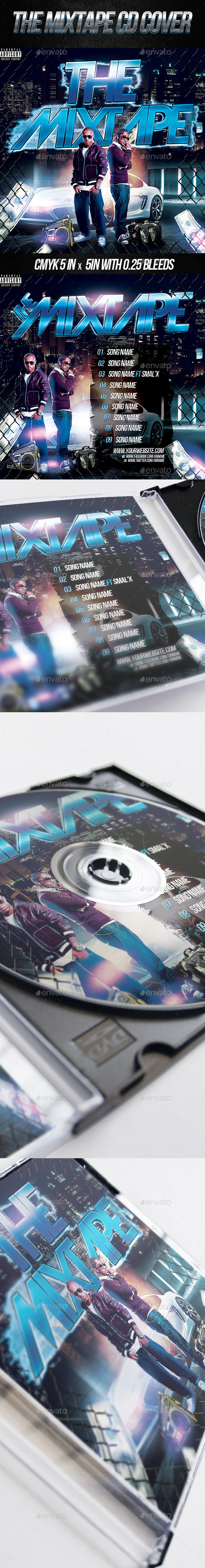 GraphicRiver The Mixtape CD Cover PSD Template 10785056