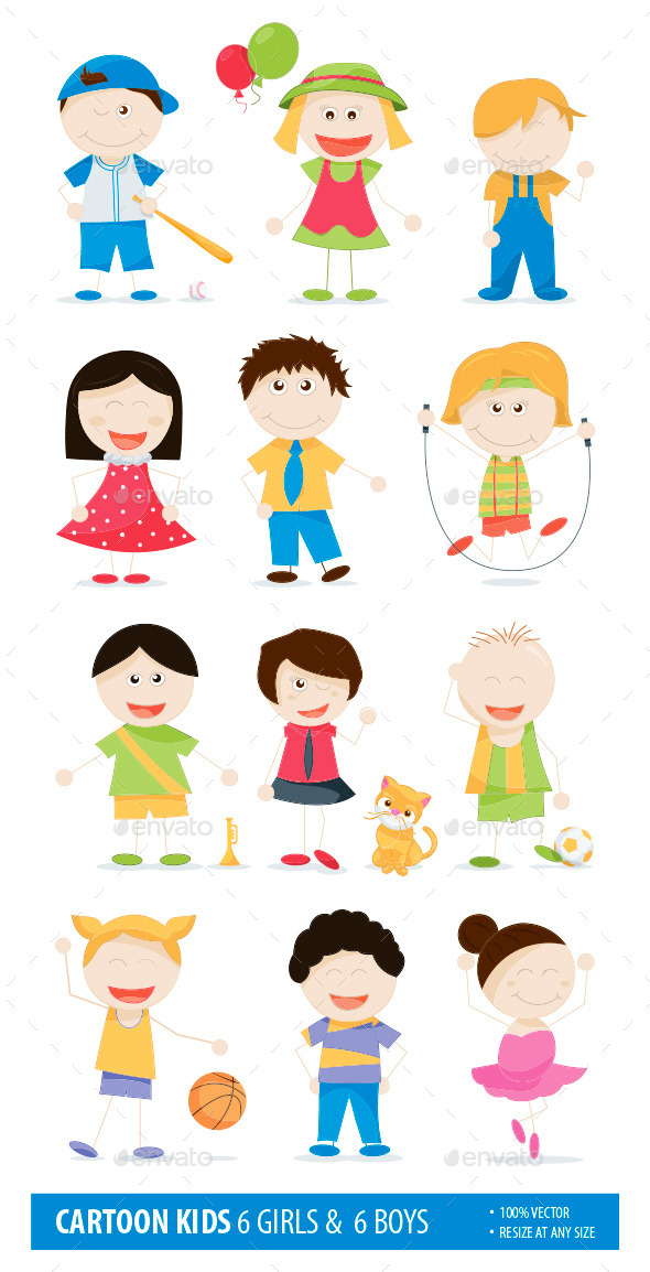 GraphicRiver Cartoon Kids 10785290