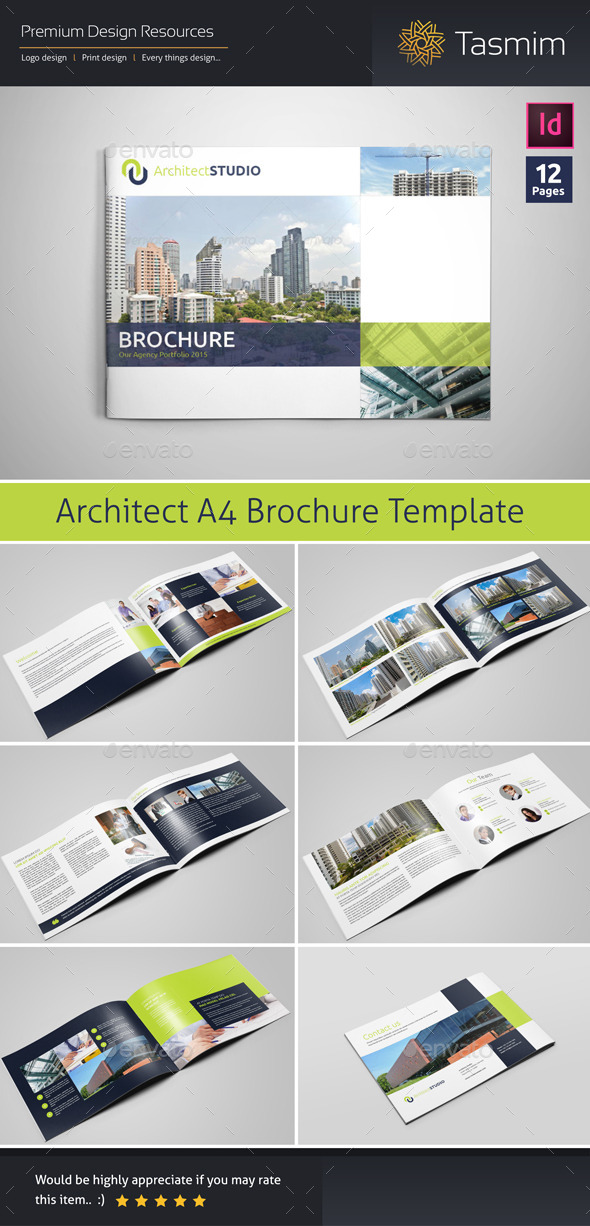 GraphicRiver Architect Studio Brochure Template 10785298