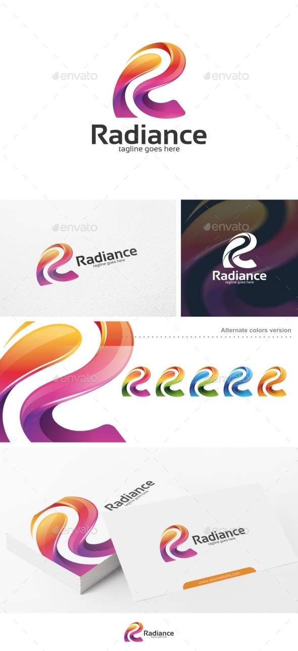 GraphicRiver Colorful R Letter Logo Template 10785421