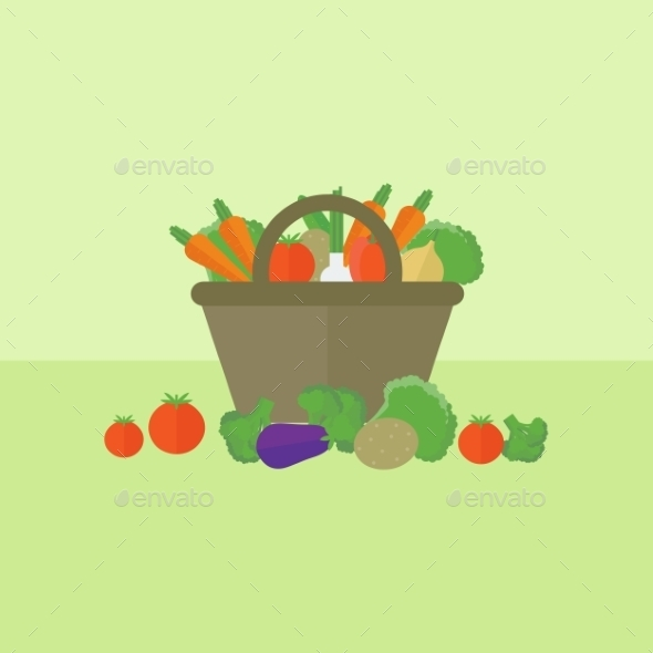 GraphicRiver Vegetable Background 10785439
