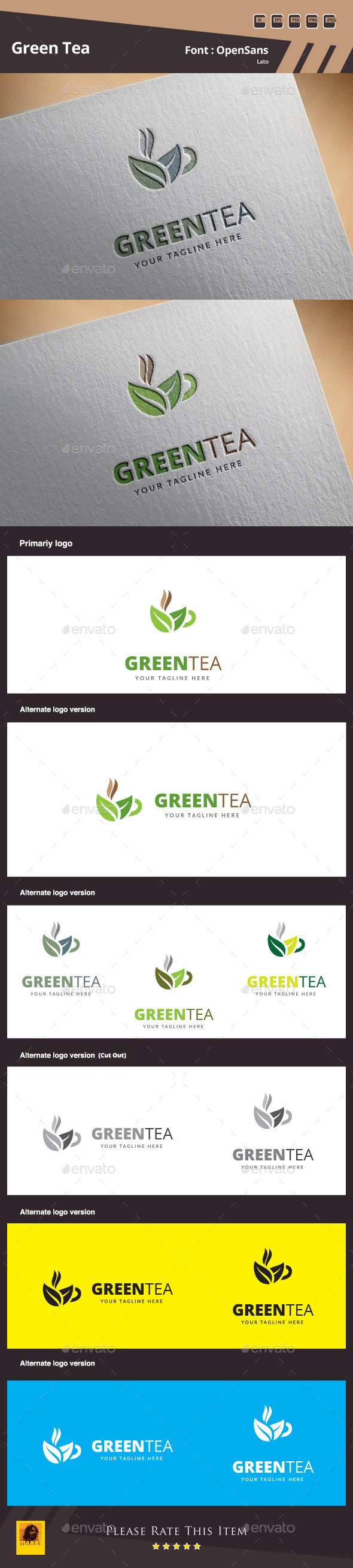GraphicRiver Green Tea Logo Template 10785445