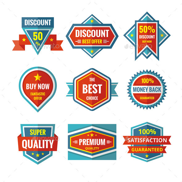 GraphicRiver Sale Badges in Flat Style Design 10785446