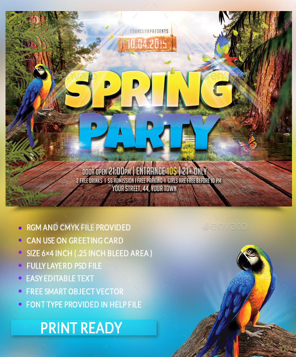 GraphicRiver Spring Party Flyer 10785669