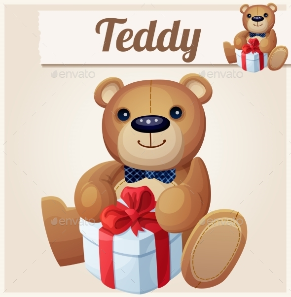 GraphicRiver Teddy Bear with Gift 10785757
