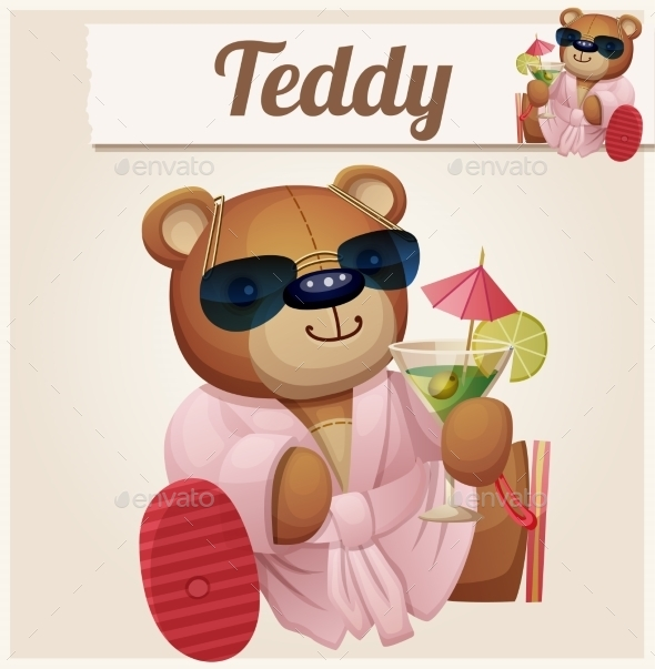 GraphicRiver Teddy Bear in Resort 10785759