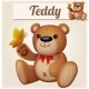 Teddy Bear and Butterfly - GraphicRiver Item for Sale