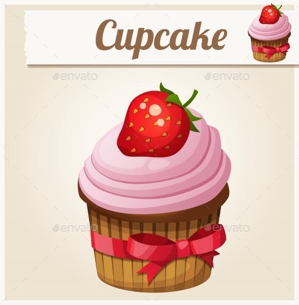 GraphicRiver Pink Cupcake 10785779